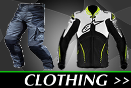 Click here to view our motorbike clothing collection, including trousers, gloves and jackets