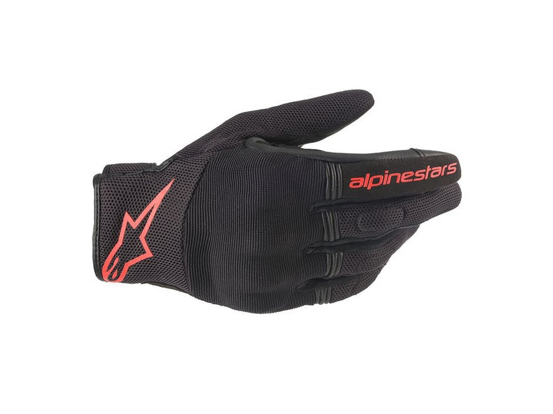 ALPINESTARS Copper Gloves Black Red Fluo click to zoom image