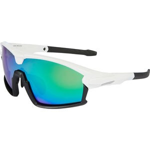 MADISON Code Breaker glasses - gloss white / matt black frame / green mirror lens