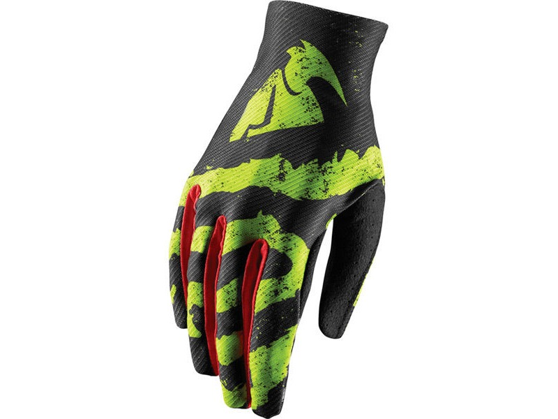 red X-large lime Thor Void gloves S18 Rampant lime