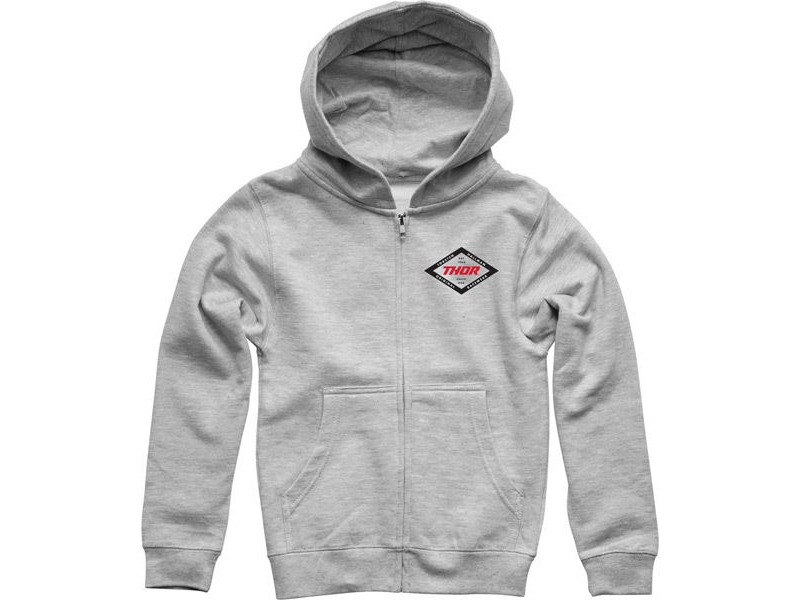 THOR HOODY YOUTH Namesake Zip Up Heather SM click to zoom image