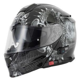 VCAN V271 MATT BLACK FLIP FRONT BLUETOOTH MOTORCYCLE MOTORBIKE HELMET SIZE M