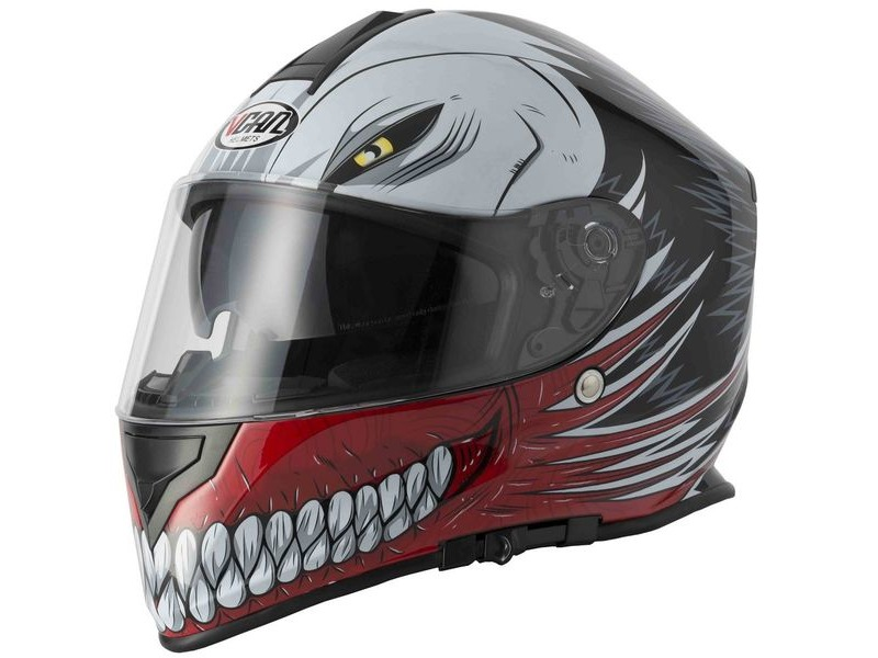 V-CAN V127 Helmet - Hollow Red click to zoom image