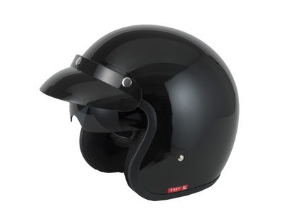 V-CAN V537 Helmet - Gloss Black