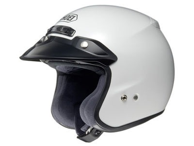 SHOEI RJ Platinum-R Plain White