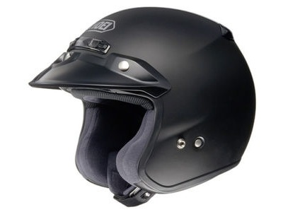 SHOEI RJ Plain Platinum-R Matt Black