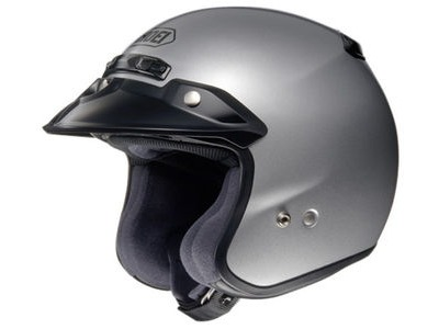 SHOEI RJ Plain Platinum-R Silver