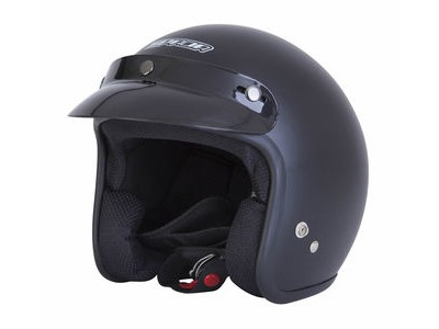 SPADA Open Face Plain Matt Black