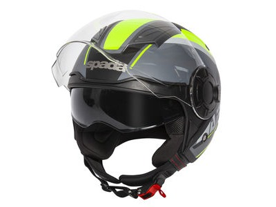 SPADA Helmet Lycan Strobe Matt Black/Yellow